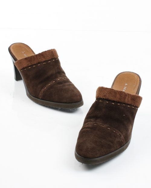 A. Marinelli, Suede and Microfiber Clogs-Size 7 1/2-4466