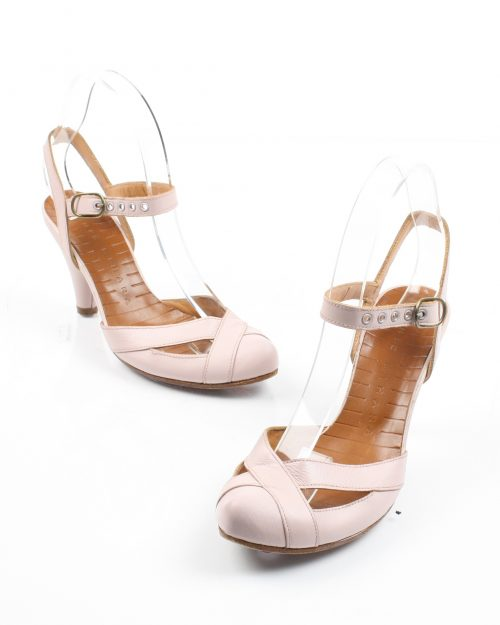 Chie Mihara, Pink Leather Heels-Size 37 1/2-4469