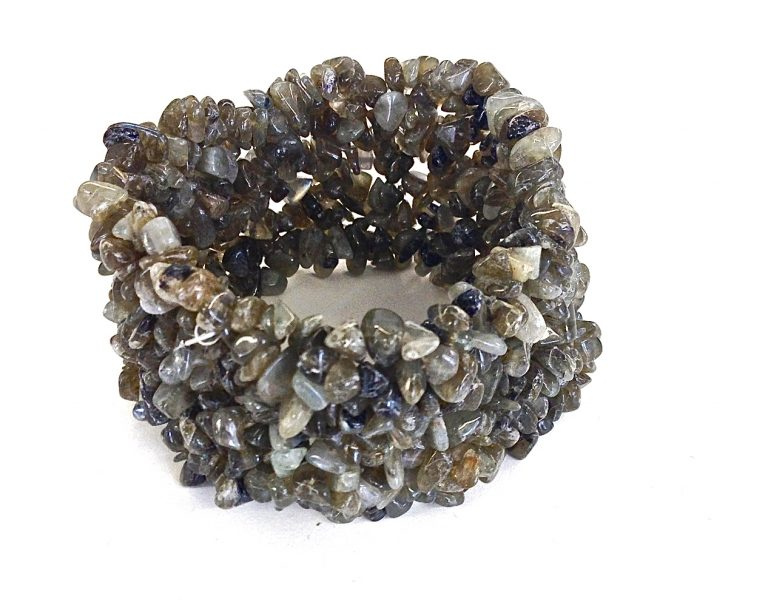 Olive/Grey Stretch Stone Bracelet