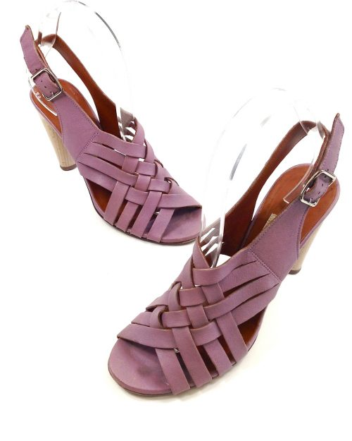 Lanvin, Washed Lamb Slingback in Lavender-Size 38-3645