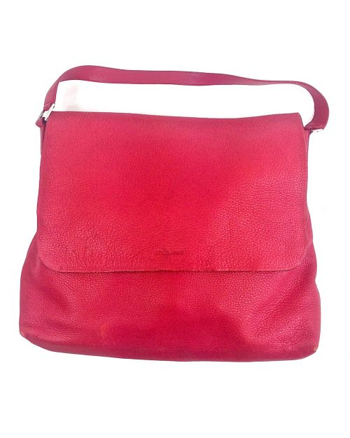 Giorgio Armani, Red Lambskin Messenger Bag