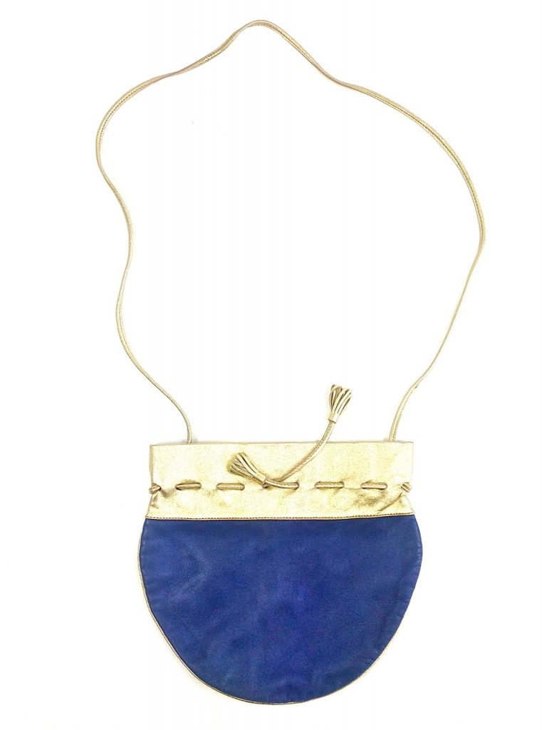 Lina Lee, Gold and Blue Disco Crossbody-3767