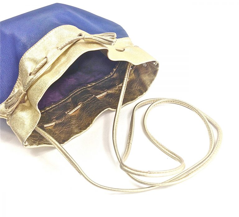 Lina Lee, Gold and Blue Disco Crossbody-3766