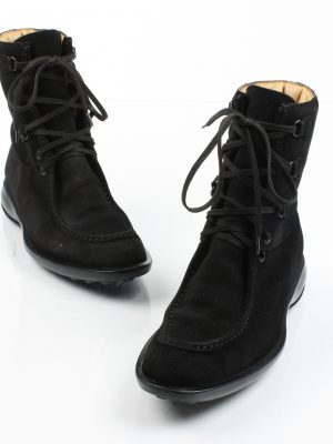 Tod's, Black Suede Lace-Up Boot-4424